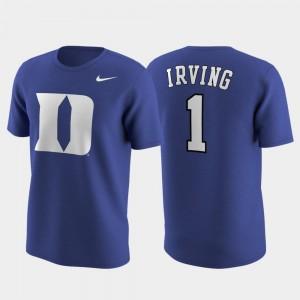 Nike Replica College Future Star Future Stars Royal Kyrie Irving Blue Devils T-Shirt Mens #1