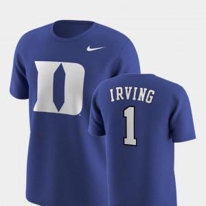 Nike Replica Royal Kyrie Irving Blue Devils T-Shirt Future Stars Men's #1