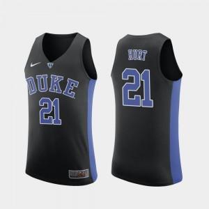 For Men Matthew Hurt Duke Jersey #21 Black College Basketball Replica