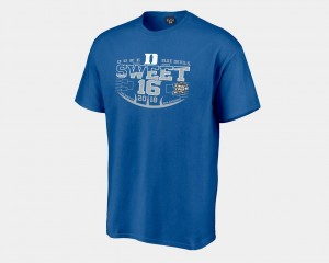 Blue Devils T-Shirt 2018 March Madness Basketball Tournament Royal Sweet 16 Bound Men's