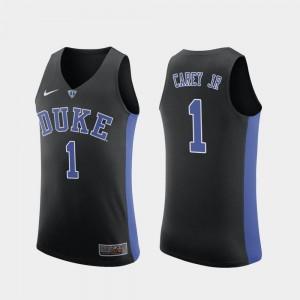 College Basketball Vernon Carey Jr. Duke Blue Devils Jersey Men's Replica #1 Black