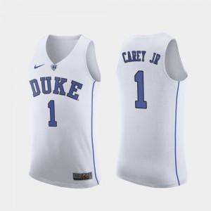 #1 Vernon Carey Jr. Duke University Jersey Replica College Basketball White For Men's