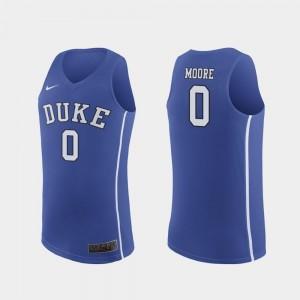 #0 Replica For Men Royal Wendell Moore Duke University Jersey College Basketball