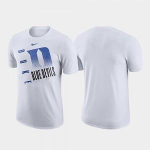 For Men's Duke University T-Shirt Just Do It White Nike Performance Cotton