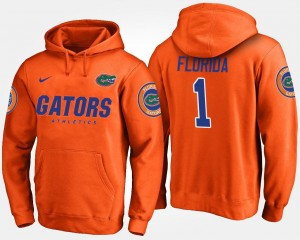 No.1 University of Florida Hoodie Name and Number #1 For Men Orange