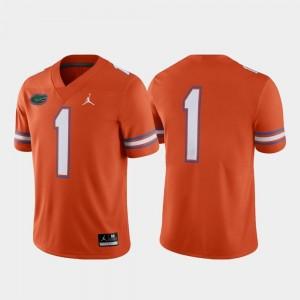 For Men's #1 Game Alternate Jordan Brand UF Jersey Orange