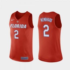 College Basketball Andrew Nembhard Florida Jersey Orange Mens Replica #2