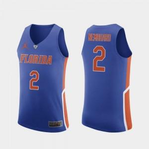 Authentic #2 Andrew Nembhard University of Florida Jersey For Men Royal College Basketball