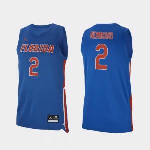Men's Replica College Basketball #2 Andrew Nembhard University of Florida Jersey Royal