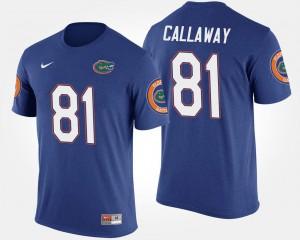 Blue Men #81 Name and Number Antonio Callaway Florida T-Shirt