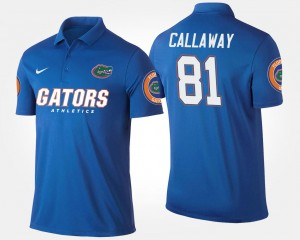 Antonio Callaway UF Polo For Men's Blue #81 Name and Number
