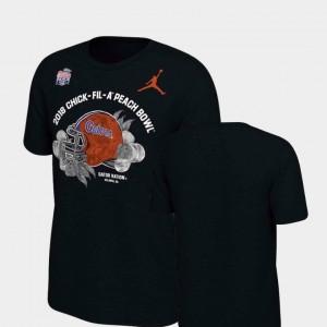Black UF T-Shirt 2018 Peach Bowl Bound For Men Helmet Jordan Brand