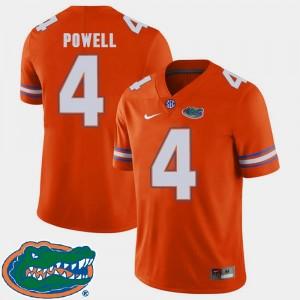 Orange Mens 2018 SEC Brandon Powell UF Jersey College Football #4
