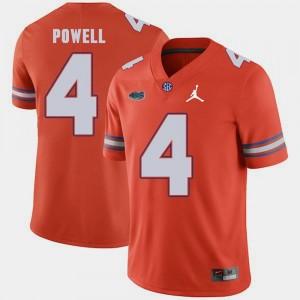 #4 Mens Jordan Brand Orange Replica 2018 Game Brandon Powell University of Florida Jersey