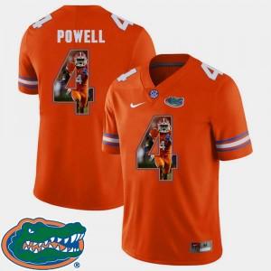 Pictorial Fashion Orange Brandon Powell Florida Jersey #4 For Men Football