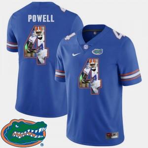 #4 Brandon Powell Florida Jersey Royal Mens Football Pictorial Fashion