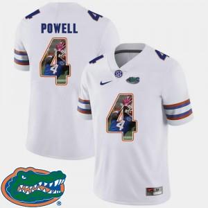 Men Pictorial Fashion #4 White Football Brandon Powell UF Jersey