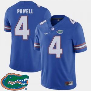 College Football 2018 SEC #4 Men Royal Brandon Powell Florida Jersey