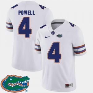 College Football 2018 SEC #4 Mens Brandon Powell Florida Jersey White