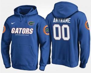 Blue Men's Name and Number #00 Florida Custom Hoodies