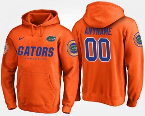 Name and Number #00 For Men's University of Florida Customized Hoodie Orange