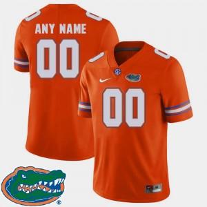 2018 SEC Orange #00 College Football For Men's UF Custom Jersey