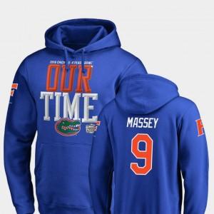 Dre Massey Florida Hoodie Royal Men's 2018 Peach Bowl Bound Fanatics Branded Counter #9