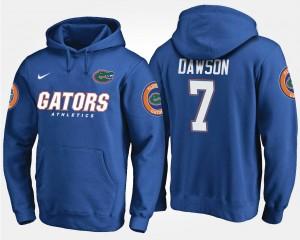 Duke Dawson Florida Hoodie Mens Name and Number #7 Blue