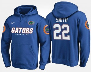 #22 Name and Number For Men's Blue Emmitt Smith Florida Gators Hoodie