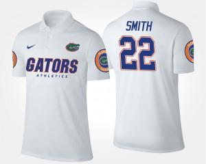 White Men's Emmitt Smith University of Florida Polo Name and Number #22