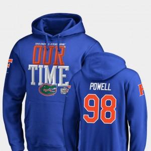 Jorge Powell UF Hoodie 2018 Peach Bowl Bound #98 Fanatics Branded Counter Men's Royal