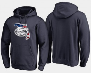 Big & Tall Navy For Men's UF Hoodie Banner State