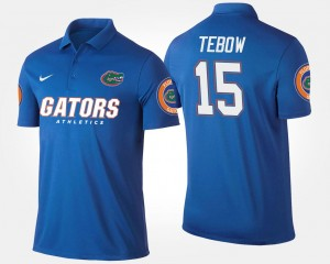 #15 Name and Number Blue Tim Tebow Florida Gators Polo Men's