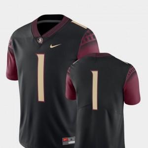 College Football #1 For Men's FSU Seminoles Jersey Black 2018 Game Nike