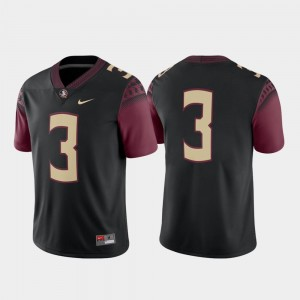 Black Alternate College Football Game #3 Florida State Jersey For Men's