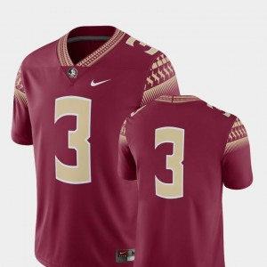 Garnet 2018 Game Nike Florida State Seminoles Jersey Mens College Football #3