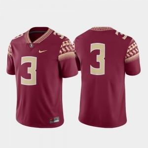 FSU Jersey Men Game Garnet #3 College Football Nike
