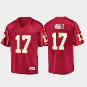 Charlie Ward Florida State Seminoles Jersey Champions Collection Mens #17 Fanatics Branded Garnet