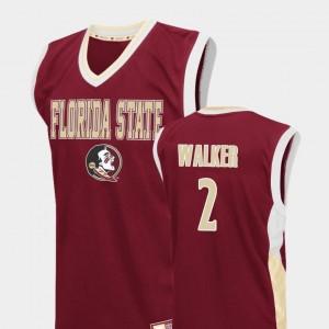 CJ Walker FSU Jersey College Basketball Fadeaway Men Red #2