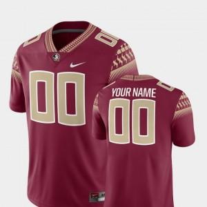 2018 Game Nike Florida State Custom Jersey #00 For Men College Football Garnet