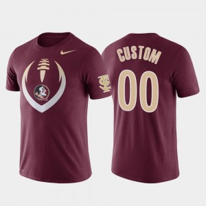 #00 Florida State Seminoles Customized T-Shirt Football Icon For Men Garnet Performance