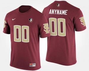 Florida State Seminoles Custom T-Shirt Men T shirt #00 Name and Number Garnet