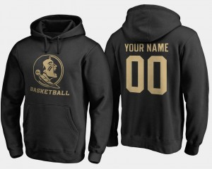 #00 Black FSU Custom Hoodies Basketball Name and Number For Men