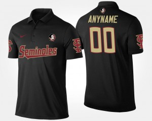 Name and Number #00 Florida State Customized Polo Black Mens