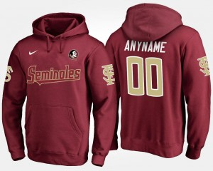 Florida State Customized Hoodie Name and Number #00 Men's Garnet