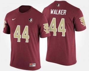 #44 DeMarcus Walker Seminoles T-Shirt Name and Number Garnet For Men's