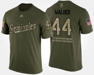 Camo Mens Military DeMarcus Walker Seminoles T-Shirt #44 Short Sleeve With Message