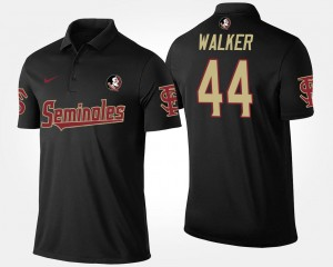 For Men's Black #44 Name and Number DeMarcus Walker Florida State Polo