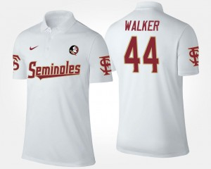 White #44 Name and Number DeMarcus Walker Florida State Polo Men's