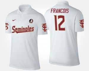 Deondre Francois Florida State Polo #12 Mens Name and Number White